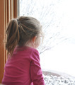 Child Looking Out Winter Window - PhotoDune Item for Sale