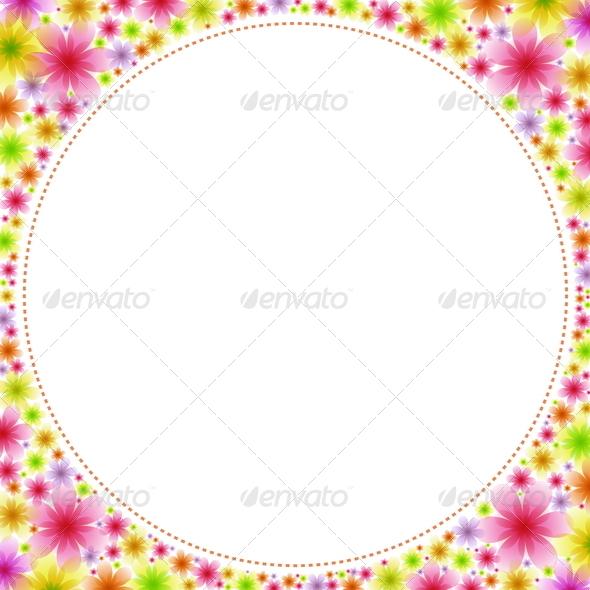 GraphicRiver Floral Frame 4875478