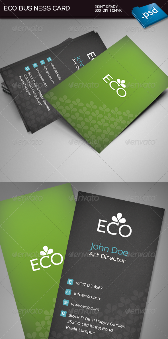 GraphicRiver Eco Business Card 3782484