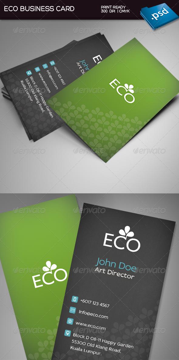 GraphicRiver Eco Business Card 3782484