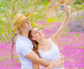 Cute couple photographing of themself - PhotoDune Item for Sale