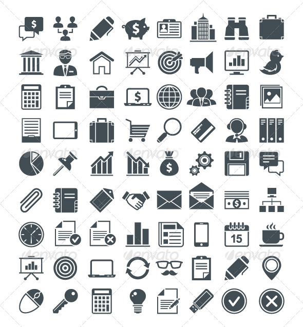 GraphicRiver Set of Useful Vector Icons 4878532