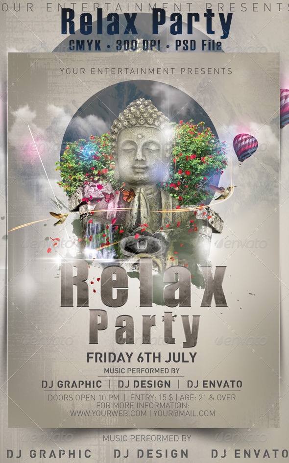 GraphicRiver Relax Party Flyer 4809925