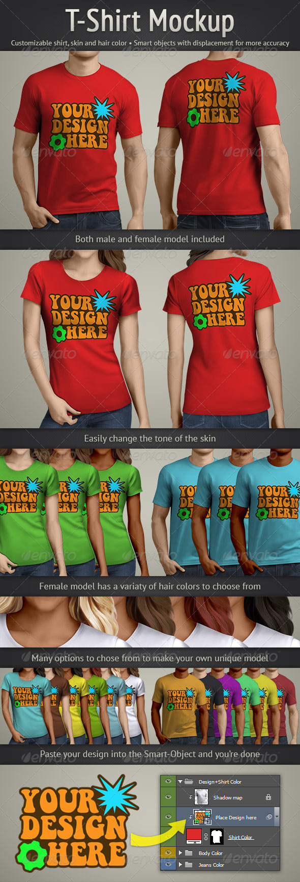 GraphicRiver T-Shirt Mockup 4860257