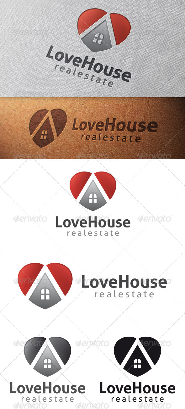 GraphicRiver Love House Logo Template 4880050