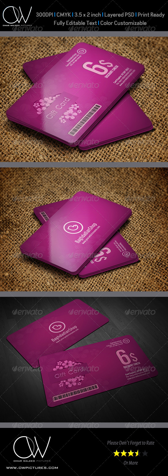 Gift  Voucher Card Vol 6 - Cards & Invites Print Templates