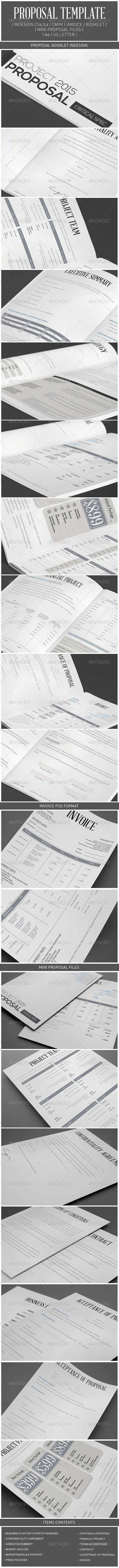 Proposal Template Package - Proposals & Invoices Stationery