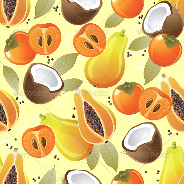 GraphicRiver Fruit Seamless 4880382