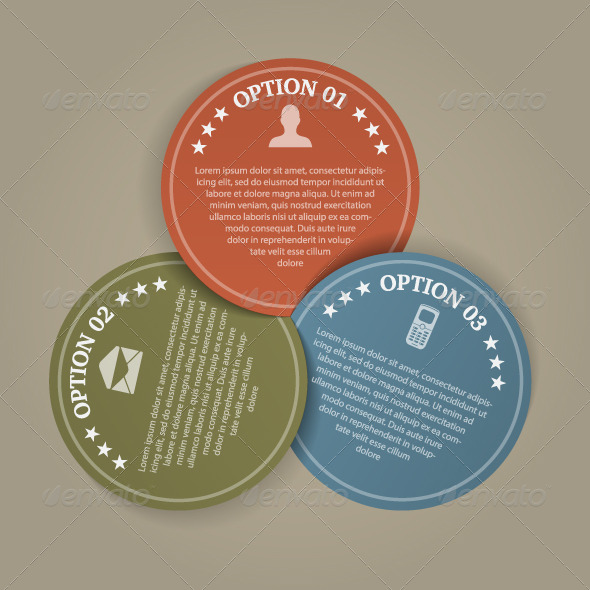 GraphicRiver Business Color Papers Circles 3 Steps 4863621