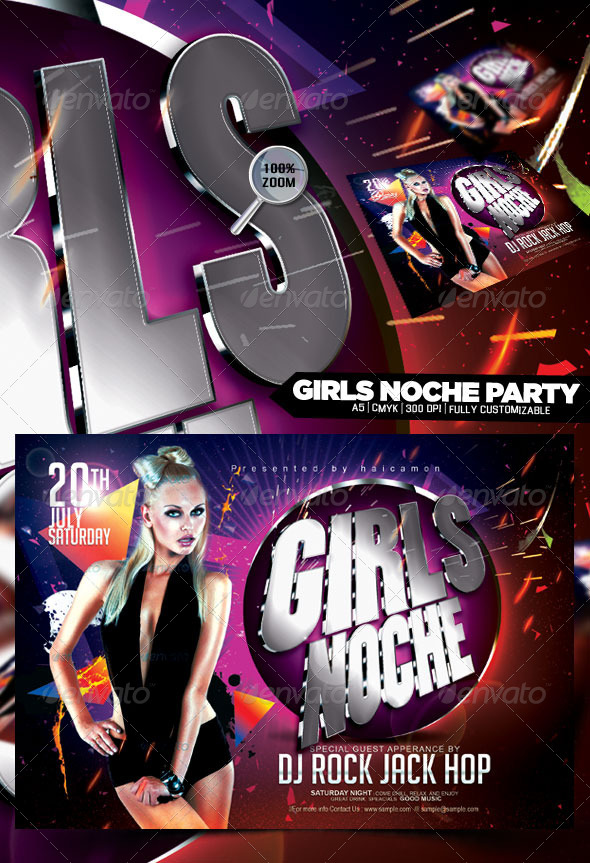 GraphicRiver Girls Noche Party 4882245
