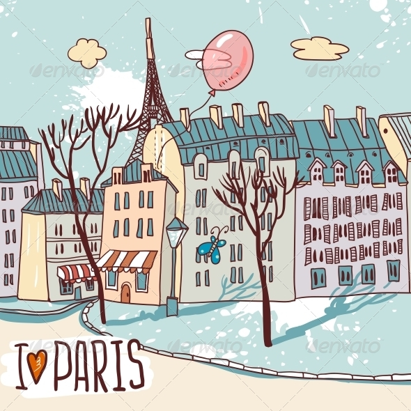 GraphicRiver Paris Urban Sketch 4882249