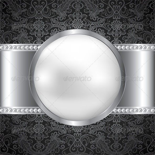 GraphicRiver Background with Pearl and Silver Frame 4882262