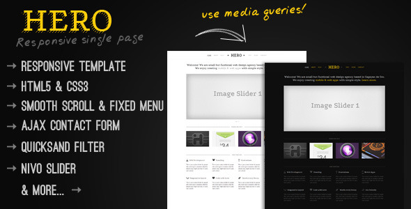 Hero - A Responsive Single Page Template -