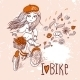 Girl with Bicycle - GraphicRiver Item for Sale