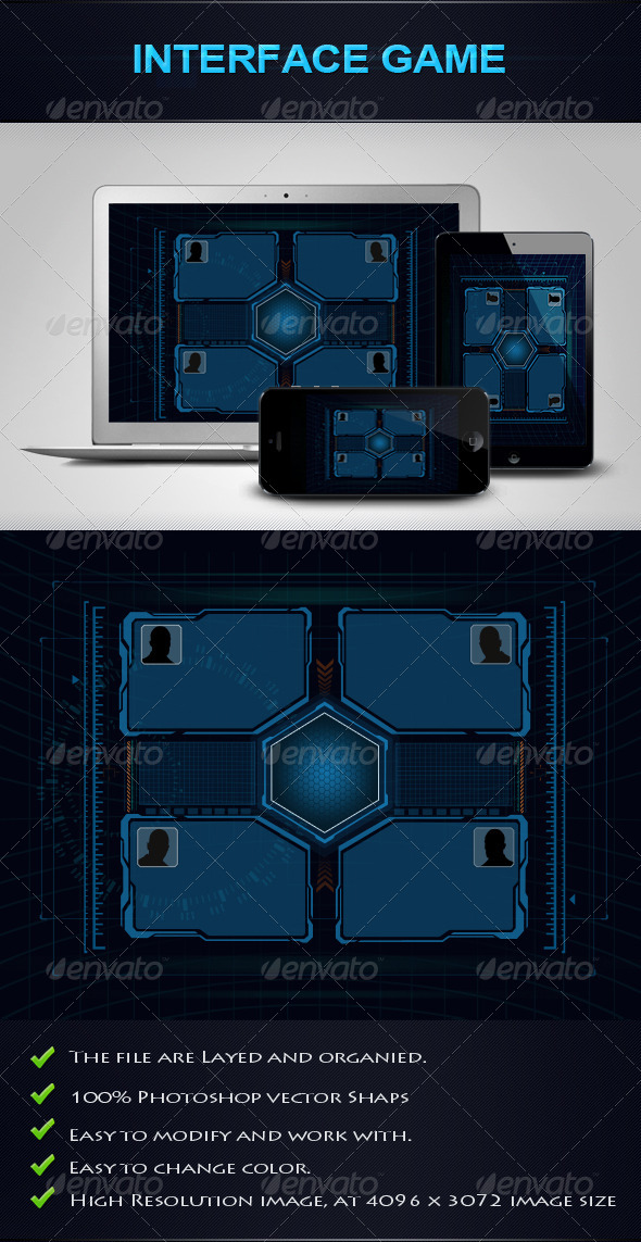 GraphicRiver Interface Game 4849690