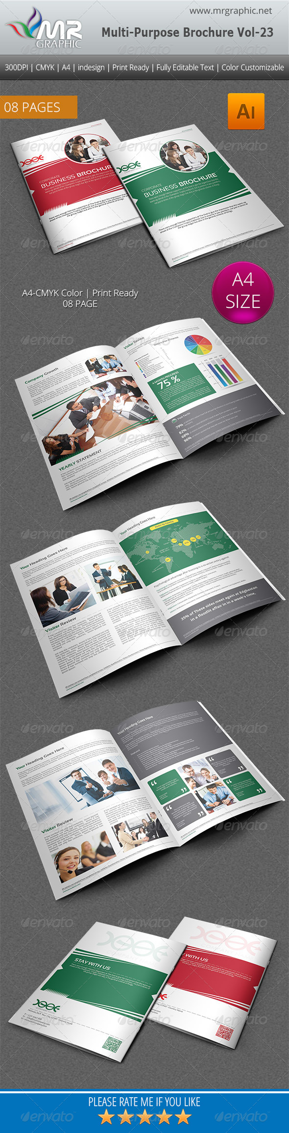 GraphicRiver Multipurpose Business Brochure Template Vol-23 4882747