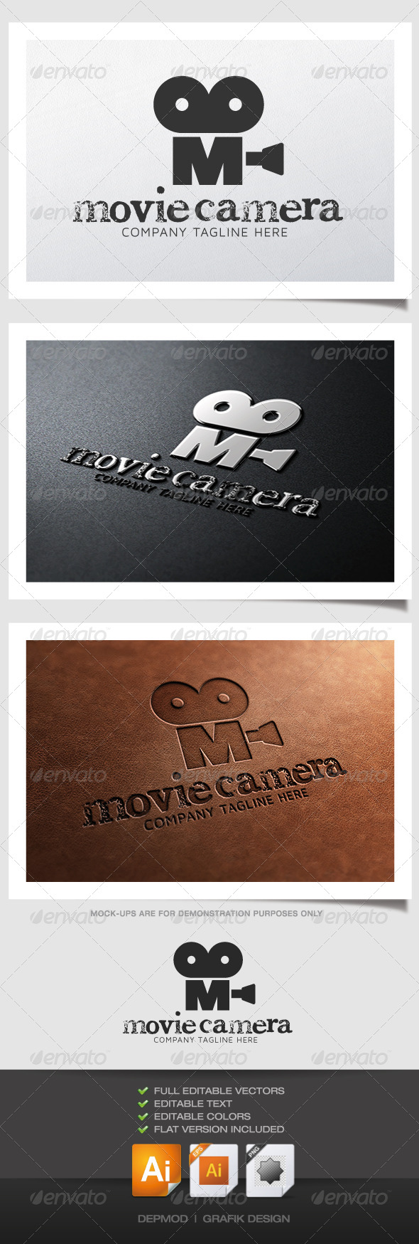GraphicRiver Movie Camera Logo 4883053