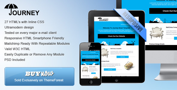 ThemeForest Journey Ultramodern Email Template 4883522