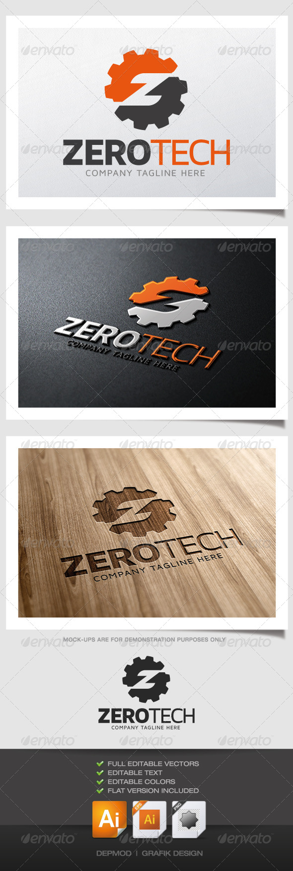 GraphicRiver Zero Tech Logo 4883727