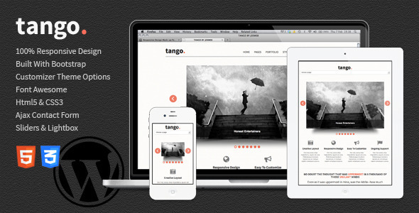 ThemeForest Tango Bootstrap Responsive Html5 Wordpress Theme 4884066