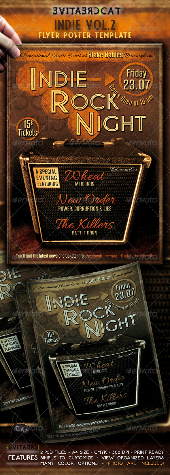 Indie Flyer/Poster Vol.2 - Events Flyers