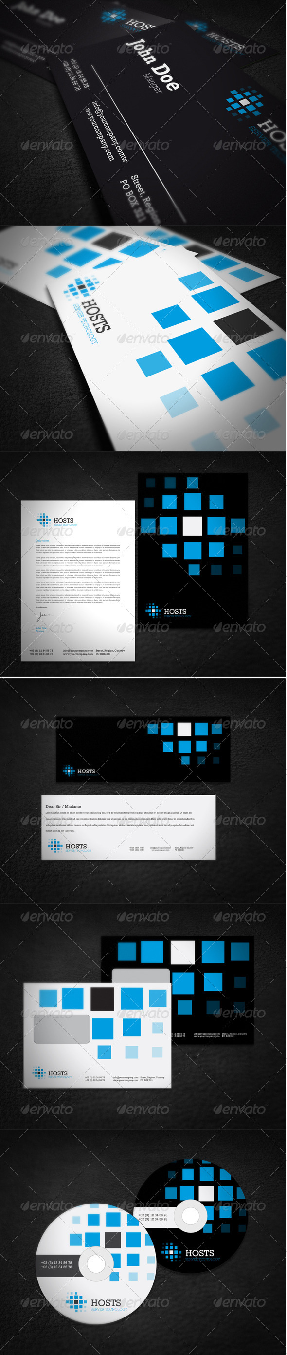 Hosting Company Corporate Identity - Stationery Print Templates