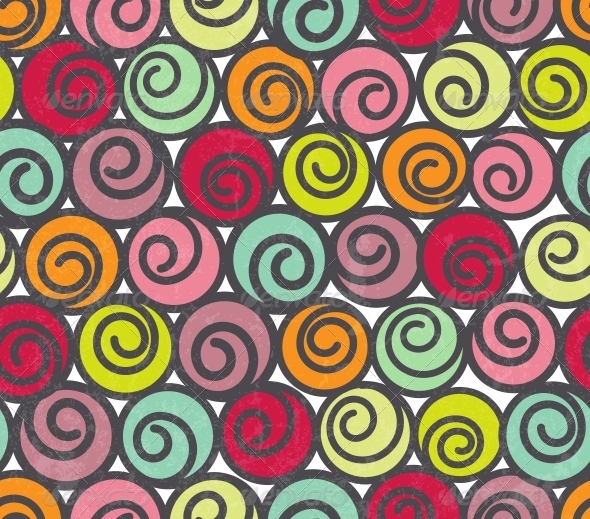 GraphicRiver Seamless Pattern with Swirls 4884783