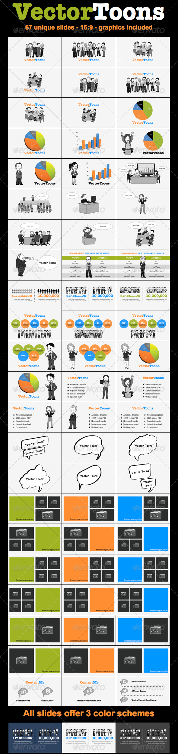 GraphicRiver Vector Toons Infographic and Comics 4884858