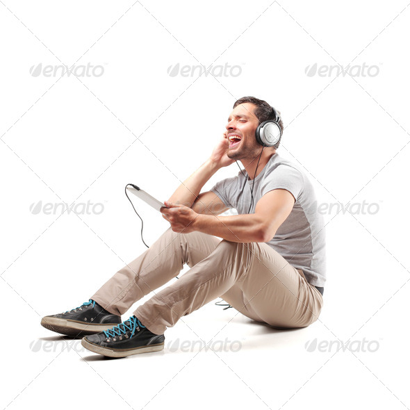 listen music - Stock Photo - Images