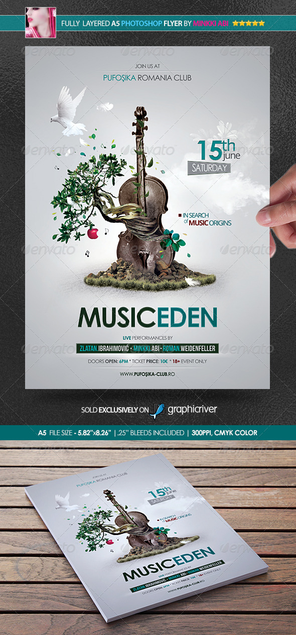GraphicRiver Music Eden Poster Flyer 4884871