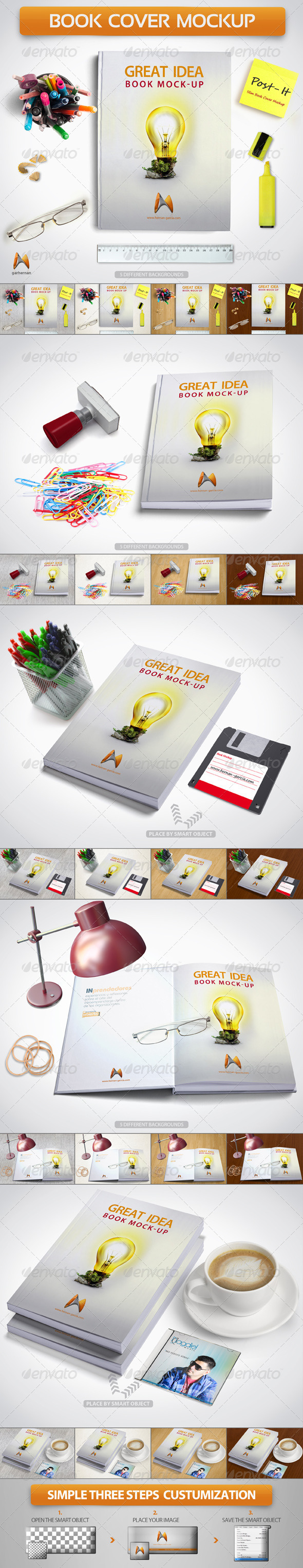 GraphicRiver Book Cover Mockup 4886067