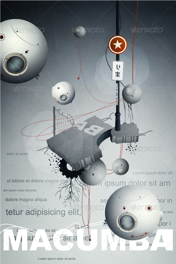 Satellites with the fantastic flying  GraphicRiver - Vectors -  Conceptual  Abstract 505084 torrent