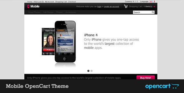 Mobile OpenCart Theme - Mobile OpenCart Theme