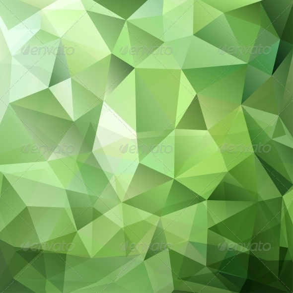 GraphicRiver Abstract Green Triangle Background 4887874