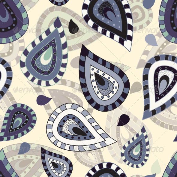 GraphicRiver Seamless pattern with paisley ornament 4597625
