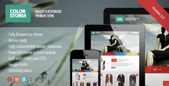 Colorstorm - Responsive&Retina Ready Magento Theme - Magento eCommerce