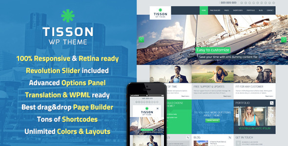ThemeForest Tisson Premium WordPress Theme 4891338