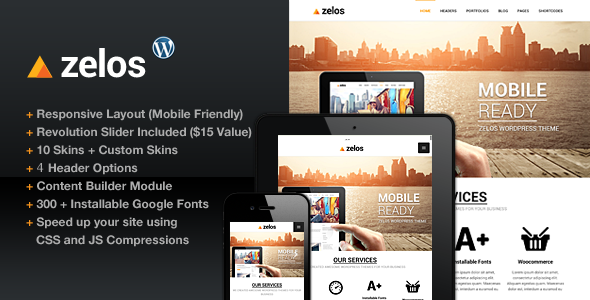 ThemeForest Zelos Responsive Multi-Purpose Business Theme 4891622