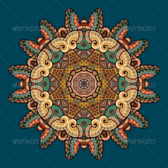 GraphicRiver Vector Pattern with Marine Inhabitants 4891802