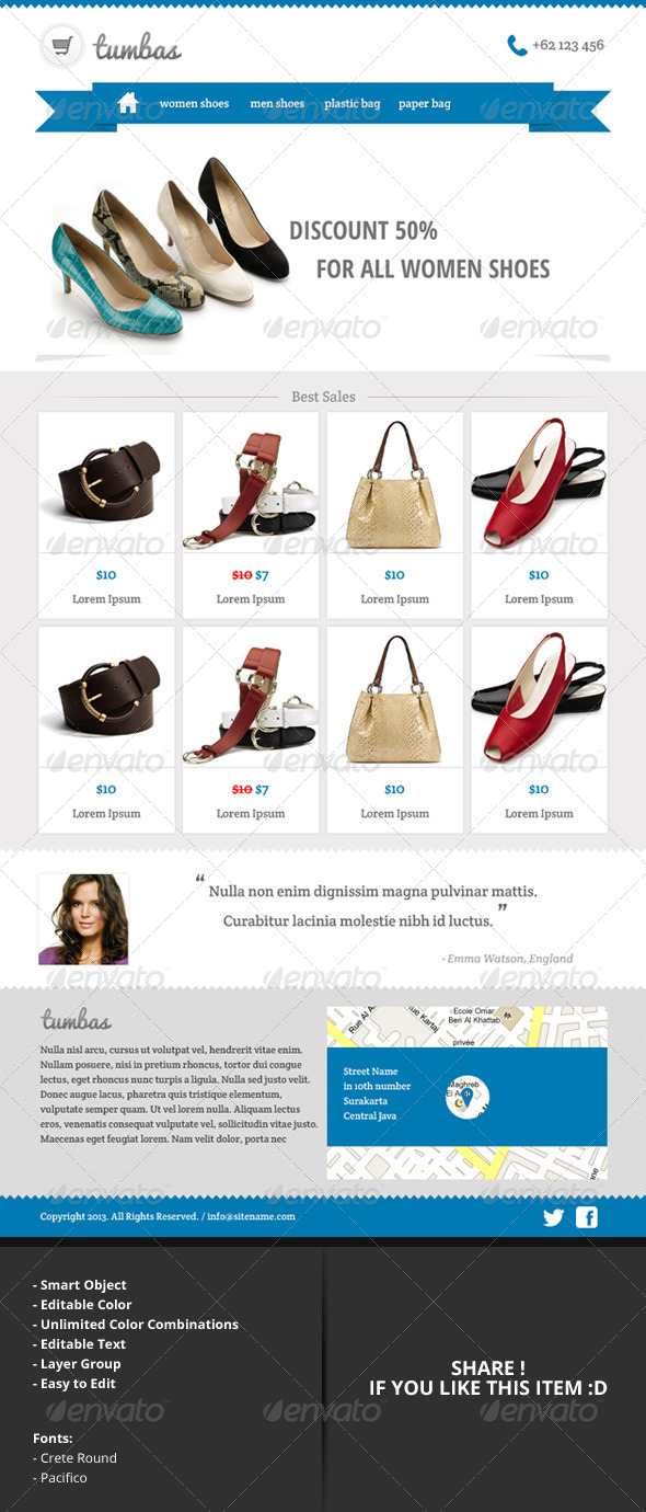 GraphicRiver tumbas Online Shop Email Newsletter Template 4891803