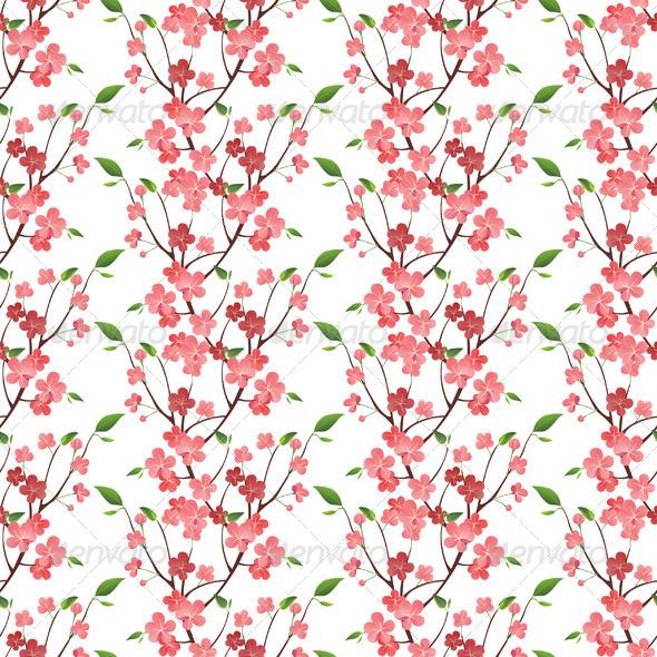 GraphicRiver Spring Blossom Seamless 4892061