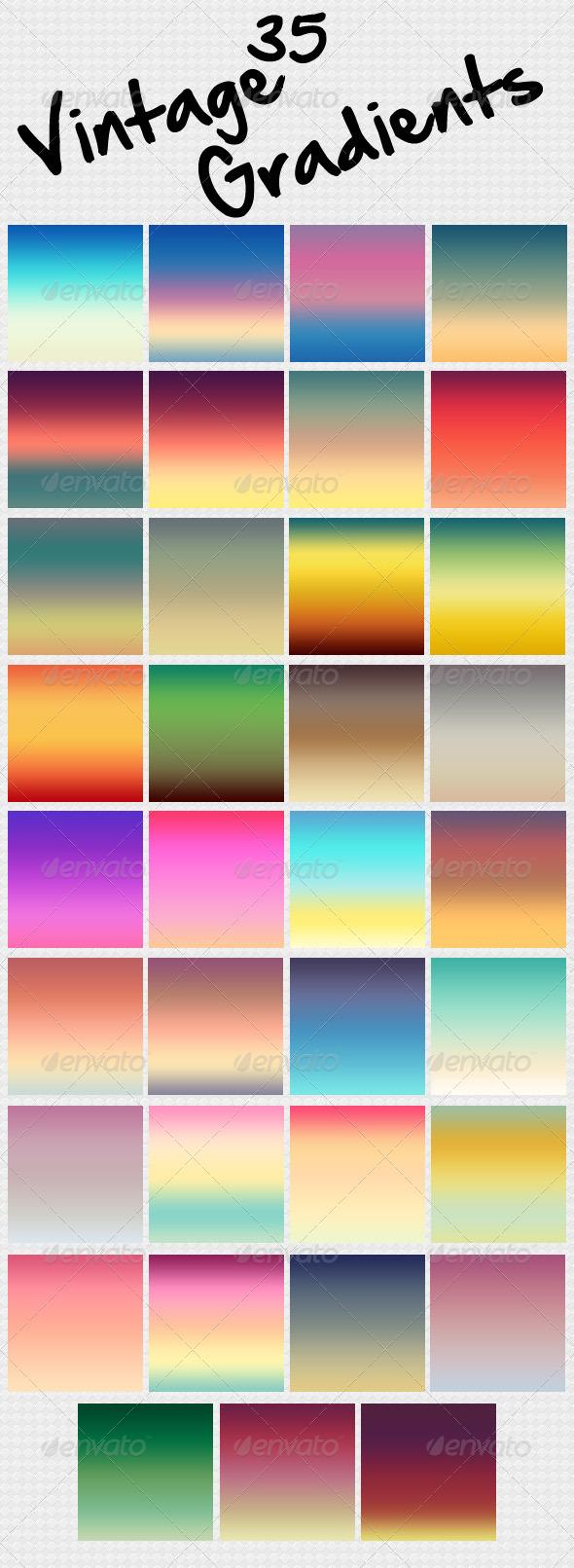 GraphicRiver 35 Vintage Gradients 4872158