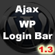 Ajax Login/Registration Bar WordPress - CodeCanyon Item for Sale