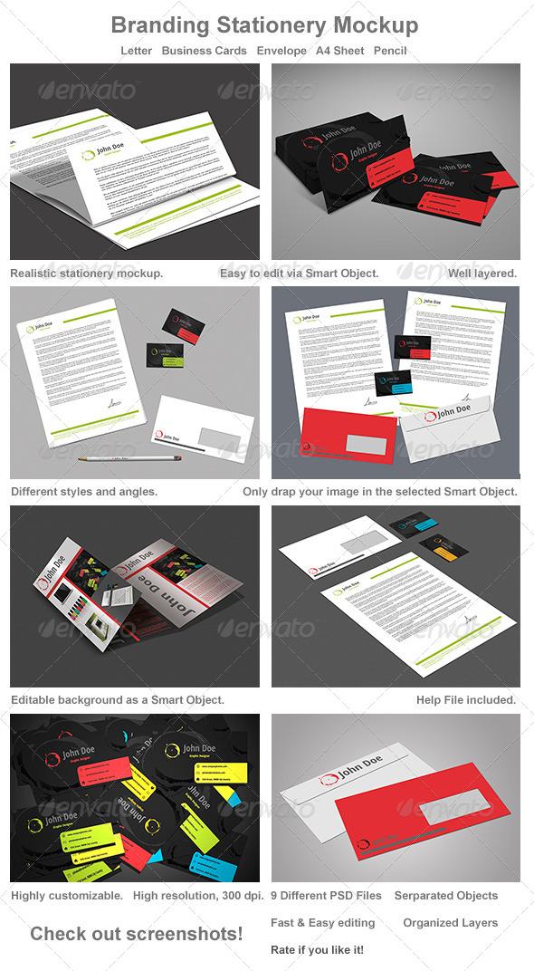 GraphicRiver Branding Stationery Mockup 4871222