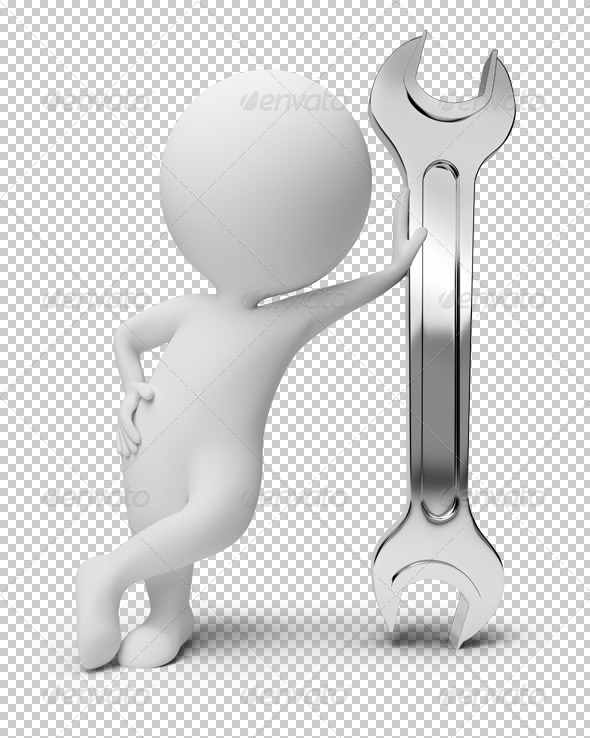 GraphicRiver 3D Small People Wrench 4892929
