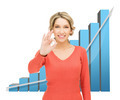 businesswoman with big 3d chart - PhotoDune Item for Sale