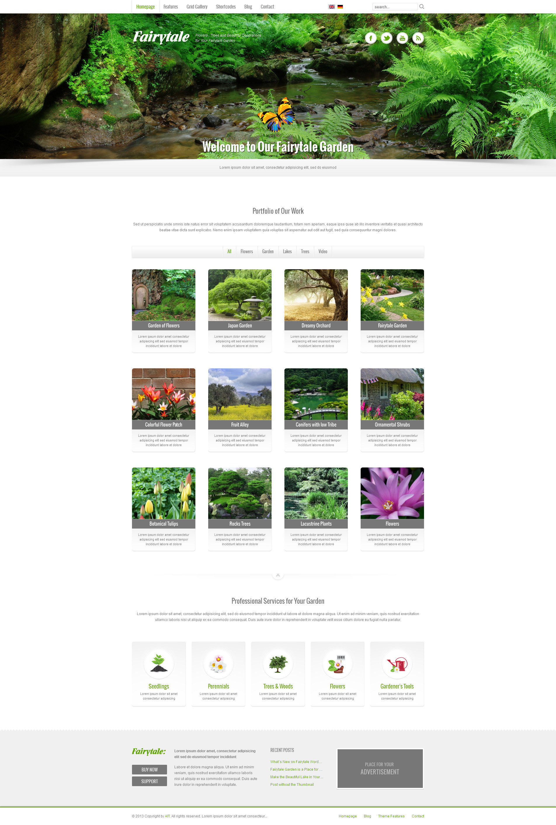 Fairytale: Business Presentation Adaptive WP Theme