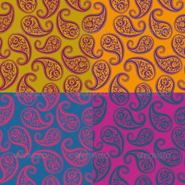GraphicRiver Seamless Vector Pattern Paisley 4894358