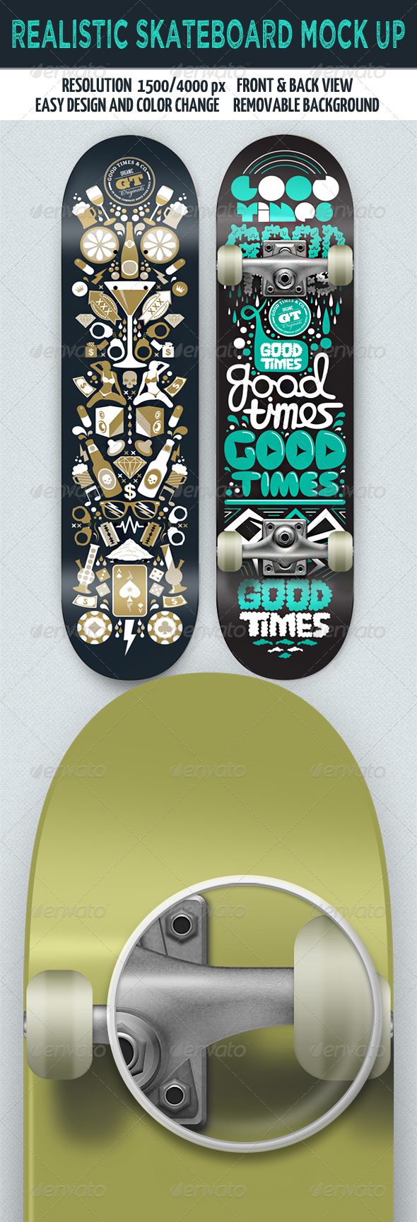 GraphicRiver Grapulo s Skateboard Mock-Up 4895030