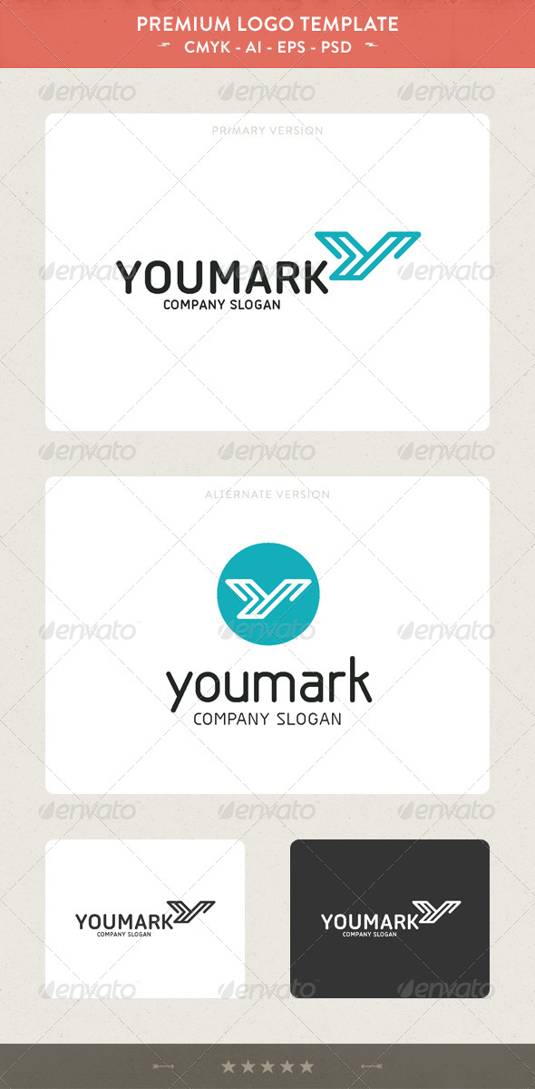GraphicRiver YouMark Y Letter Logo 4895460